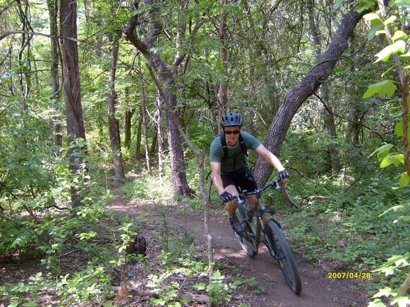 Is the steward for two trails located in oak cliff boulder park trail